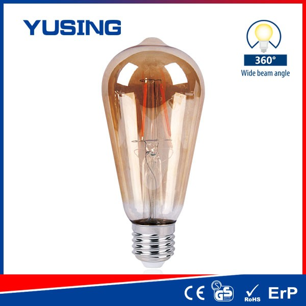 ST64 8W Vintage LED Light Bulb Antique Decorative LED Edison Bulb