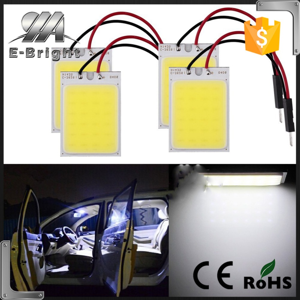 High Power 3W Festoon Dome Led light panel T10 adapters+ Festoon Dome Adapters,neon interior car lights