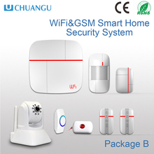 New arrival 2016 WIFI GSM house alarm system with IP Camera Live Monitoring