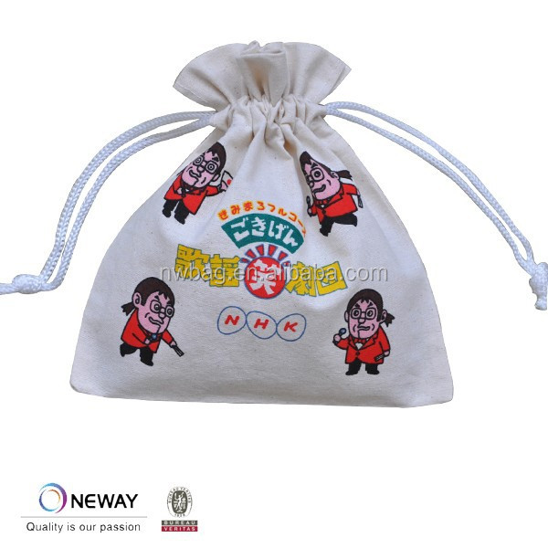 2015 Cheap Cotton Custom Drawstring Pouch/Organic Cotton String Bag/Custom Drawstring Pouch In Cotton