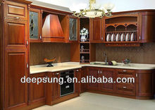New arrival America style cheap price 2016 new Solid wood kitchen cabinet design