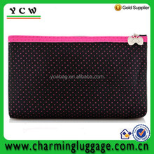 Lovely nylon dots travel toiletry bag cheap cosmetic bag