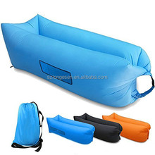Custom printed sleeping bag kids inflatable lounger with canopy air lounger cheap human sleeping bag