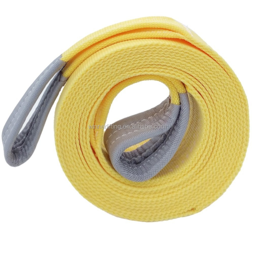 "3"" x 20' Heavy Duty Recovery Tow Strap With Shackle"