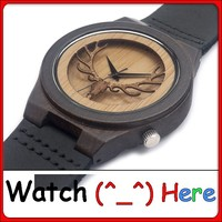 Bamboo watch, wood watch, wrist watch