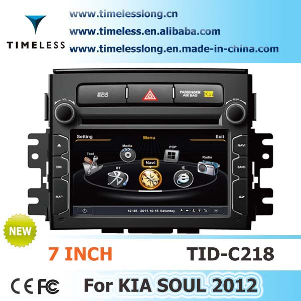 Car Audio for Kia Soul 2012 with Phonebook iPod RDS BT 3G WIFI A8 Chipset CPU 1G MHZ RAM 512MB 4G Memory S100