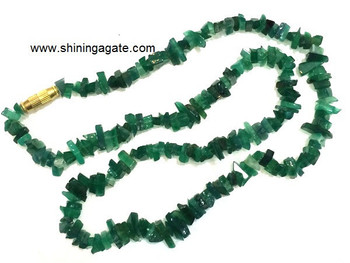 Green Aventurine Chips Necklace:Wholesale Gemstone Necklace