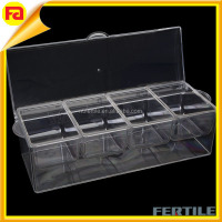Acrylic fruit Tray with wholesale custom,4-Section Ice-Chilled Condiment Tray,Acrylic fruit Tray