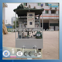 Small Engine Insulating Oil Vacuum Oil Purifier Made in Yuneng, Chongqing Oil Purifier Industrial Base