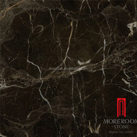 Grade AAA Polished Chinese Dark Marble Tile for Floor