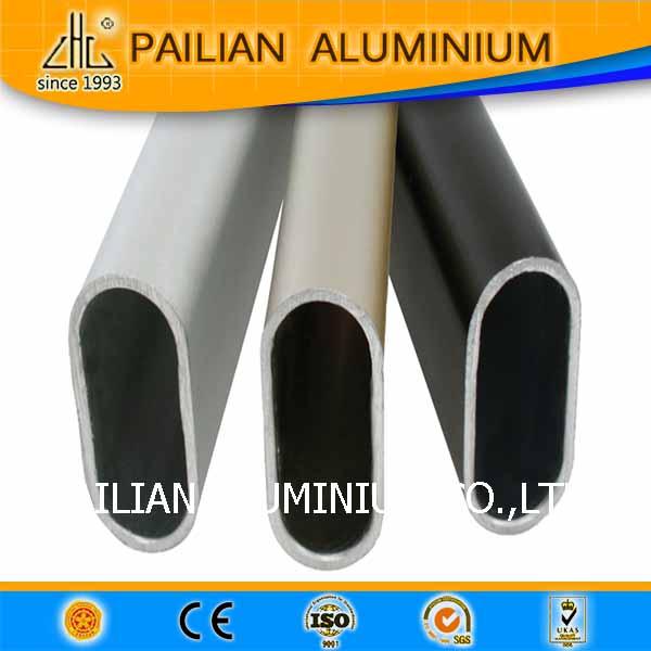 Aluminium oval tube for wardrobe ,  aluminium wardrobe profiles , aluminium profile for wardrobes