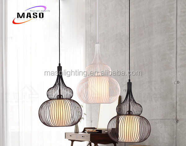China Ancient Lantern Hanging Lamp Antique Traditional black cage Metal pendant lamp for Resturant Dinning room Cafe Decoration