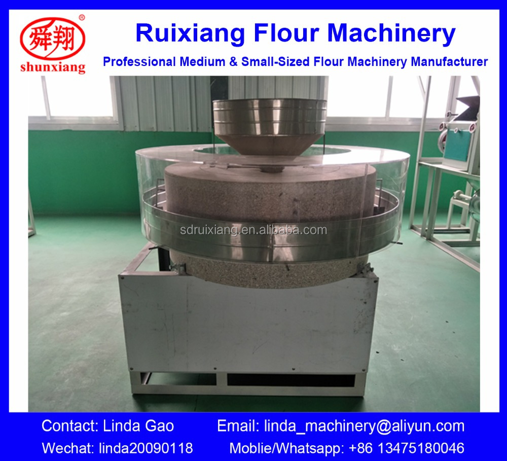 Hot Sale Semi-automatic Grain Stone Mill Flour Mill Machine, Grain stone Mill
