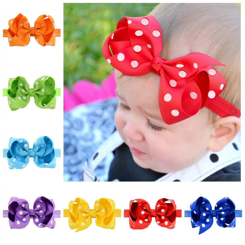 Green baby headband bow kids 2017 wholesale