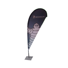 FLAGS Advertising Tear drop street flag pole flying Banner/fiberglass teardrop flag with Aluminium pole