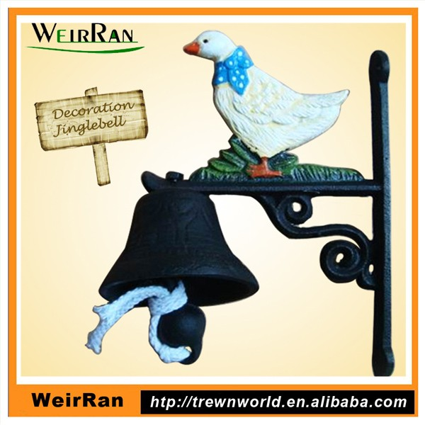 (43087) China Wholesale Animals Decorative Cast Iron Hanging Dinner decoration cow bell