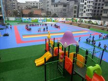Suspended Interlocking Outdoor Sports Flooring