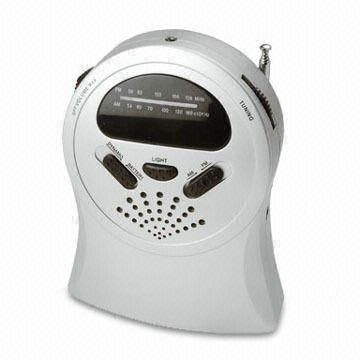 Dynamo AM/FM Radio with Flashlight and DC Socket; Can Also Use AA Batteries
