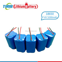 2S2P Cylindrical 7.4V 5200mah 18650 Li-ion Battery with CE ROHS