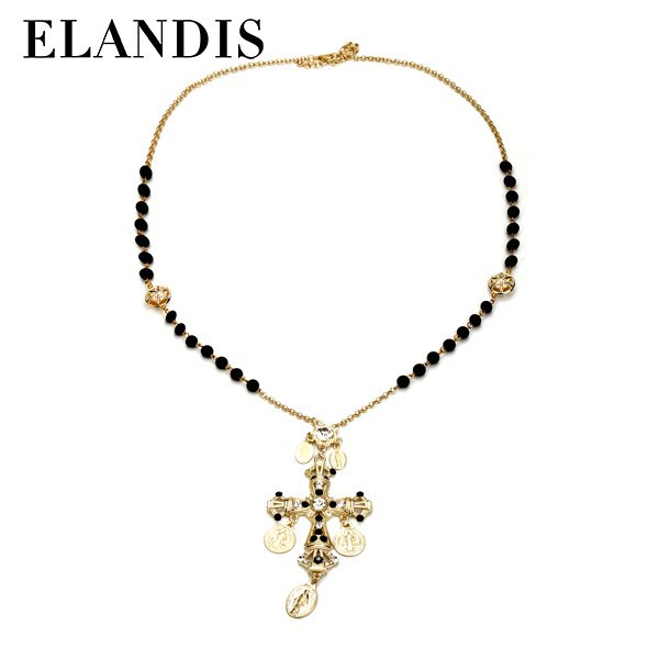 E-ELANDIS Meaningful pendant latest design cross gold plated jewelry necklace