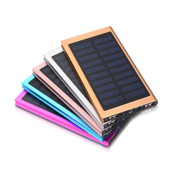 The Solar Panel 10000mah Portable Backup Power Bank Pack Dual USB Charger External Battery Power Bank