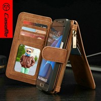 CaseMe Stand Wallet Phone Case For Samsung Galaxy S7 Leather Case