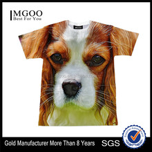 2017 MGOO High Quality Cute Dog Sublimation Print Shirts Short Sleevees Cotton Polyester Mens T-shirts