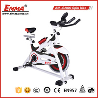 COMMERCIAL PULSE MONITOR HEAVY DUTY FLYWHEEL SPIN EXERCISE BIKE S2000