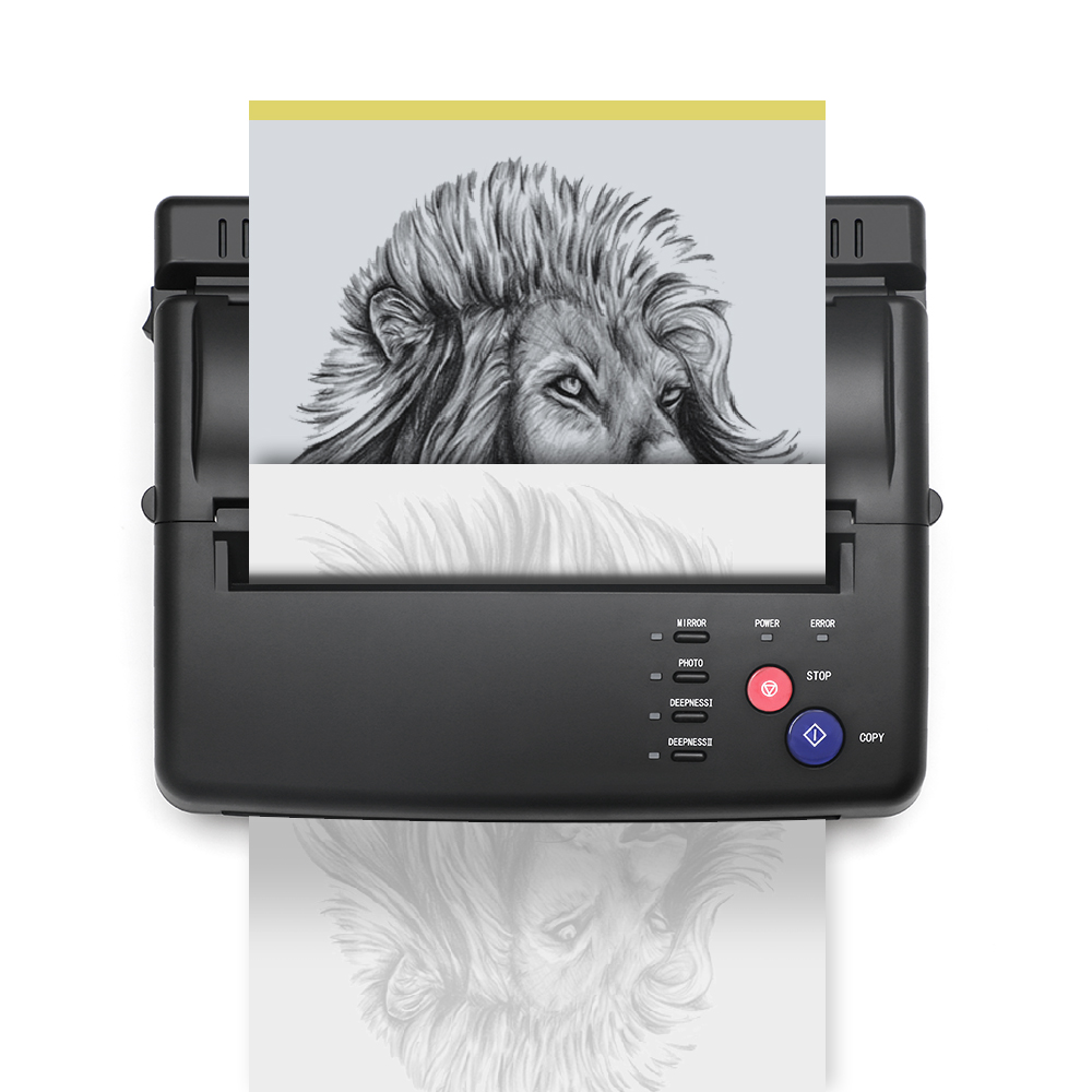 Solong Tattoo Transfer Maschine Schwarz Thermische Kopierer bluetooth schablone thermische tattoo drucker