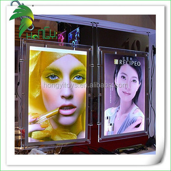 Popular crystal led light box with custom designs