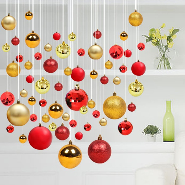 4cm 6cm 8cm Red bule gold sliver Christmas balls for decoration
