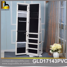 New Design China Factory mirror jewelry cabinet china factory display wood cabinet