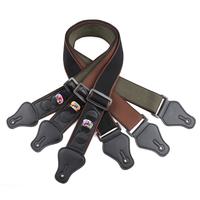 Guitar strap with 3 picks for electric/acoustic guitars