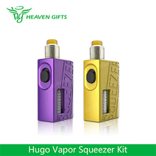 New Arrival Hugo Vapor 20700 cells Mechanical E Cig Mod 10ml N RDA HugoVapor Squeezer BF