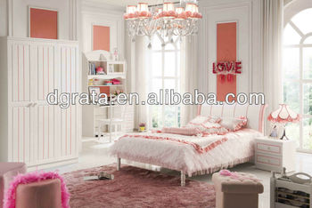2013 Bobby children bedroom set is made solid wood and E1 MDF board for bedroom furniture