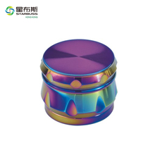 XH7700 Wholesale Custom Chromium Crusher Drum 4 Piece Zinc Tobacco Spice Herb Grinder