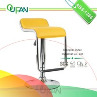 Colorful PVC Leather Wholesale Bar Stools with Footrest