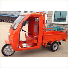 China 1000W electric 3 wheel cargo tricycle with roof