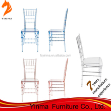 Foshan factory low price victoria stackable acrylic wedding chair