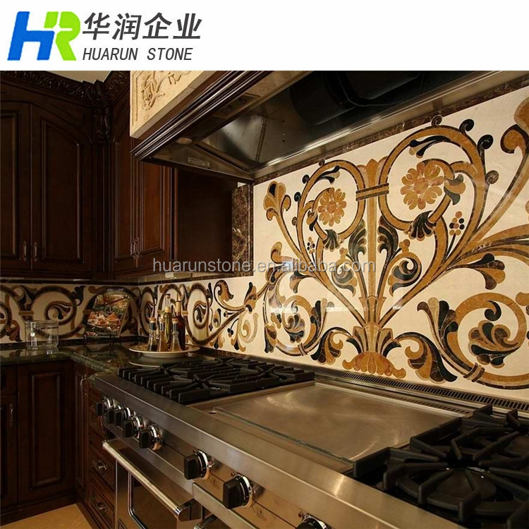 Marble Tile Medallion Kitchen Backsplash Buy Tile