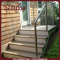 cable porch railing| cable stair rail| outdoor stair railings