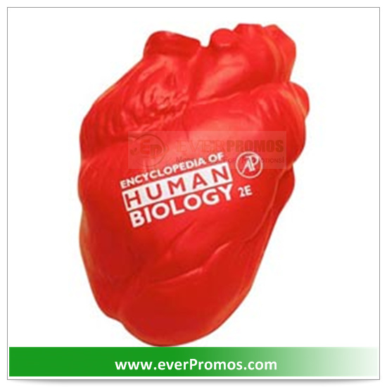 PU Material Heart No Veins Stress Reliever For Promotion