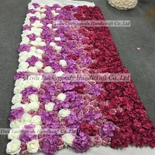 LFB621 popular selling 1.2x2.4m rose hydrangea roll up display flower backdrop