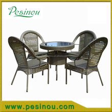 Most popular outdoor rattan dining set/outdoor table and chairs courtyard wicker dining set with high quality rattan dining set,