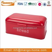 Retro Red Powder Coating Metal Bread Bin