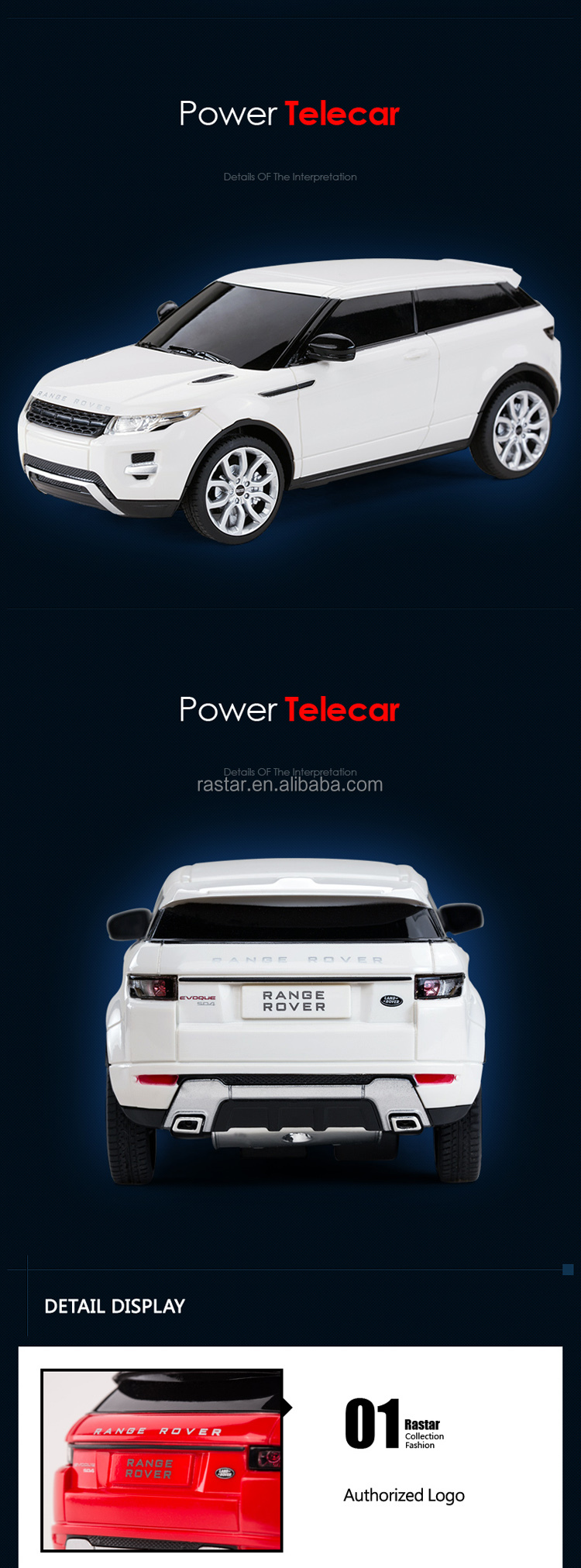 RASTAR top sale range rover miniature kids electric toys car
