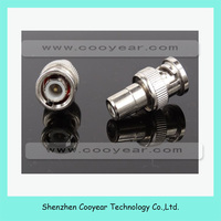 Q9 BNC Male to RCA Female Jack Coax Connector Adapter for CCTV Camera New