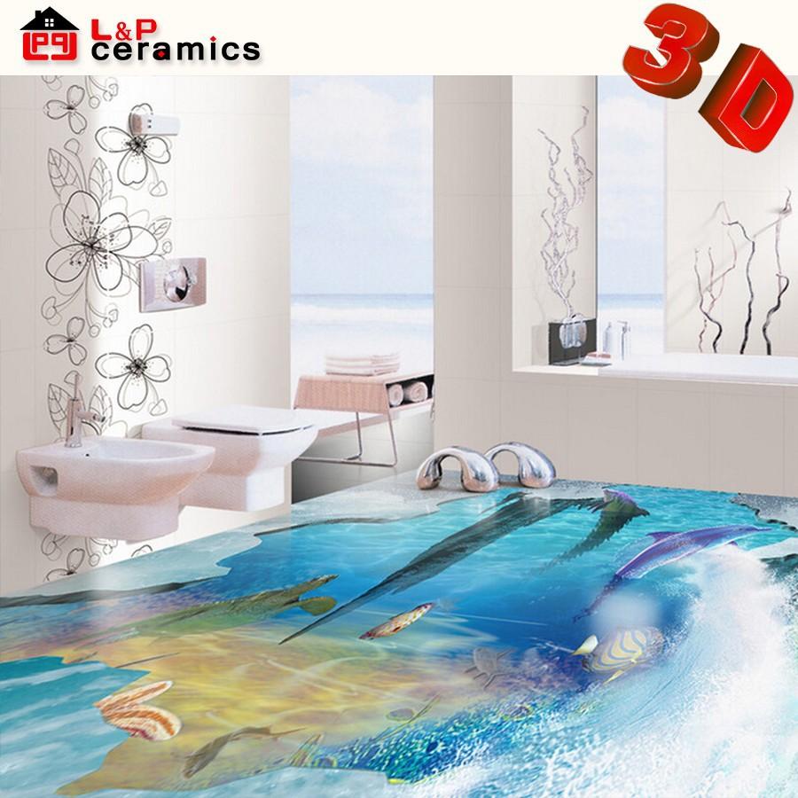 2015 new products bathroom tile 3d ceramic floor tile 3d for 3d bathroom planner tiles