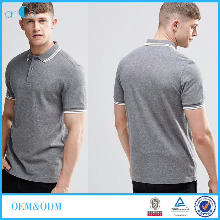 Promotional Custom Logo Brand Polo T-shirts High Quality Wholesale Men Polo Shirts 100% Cotton LC8524-N
