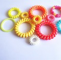 Hot sale wholesale multicolor spiral plastic hair band